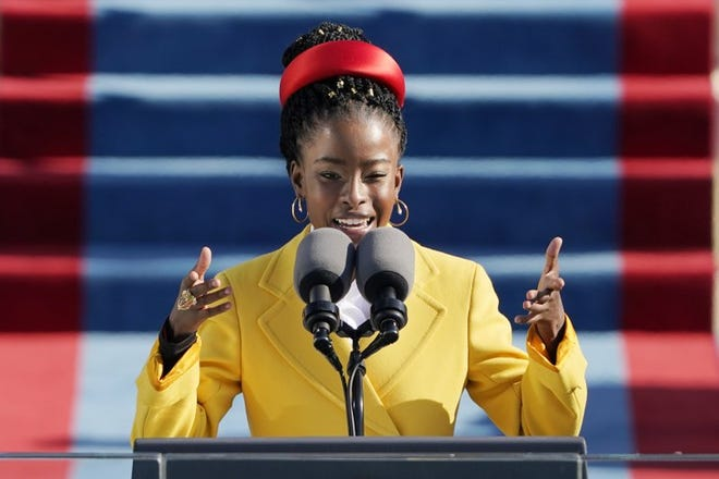 """The youngest inaugural poet in U.S. history, Amanda Gorman inspired the nation with her poem, """"The Hill We Climb."""" The Harvard grad is originally from LA."""