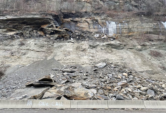 A section of Route 51 in Aliquippa and Hopewell Township that had been closed by rock debris reopened Friday afternoon.