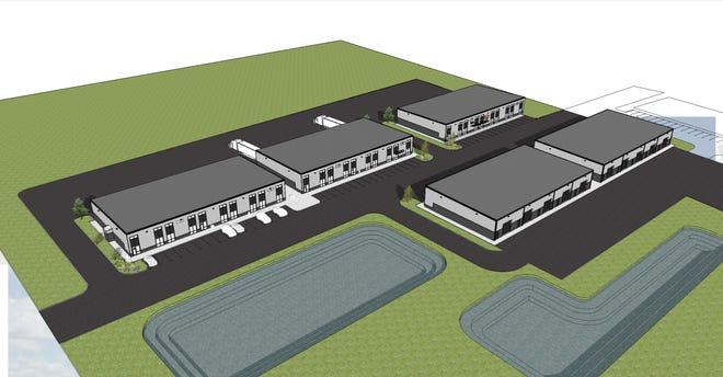 Renderings of a new development on Camden Avenue in East Milo-Grogan