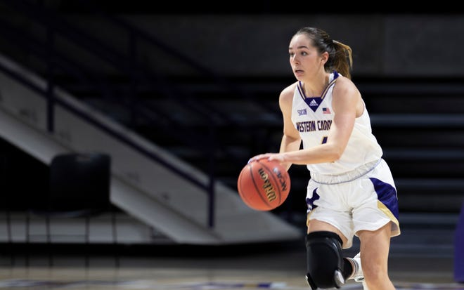 Western Carolina's Lauren LaPlant, a former Southwestern Randolph star, scored a season-high 22 points for the Catamounts in their 65-54 win over Wofford on Saturday. [Western Carolina athletics photo]