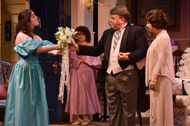 "A scene from ""One Slight Hitch"", which runs through Feb. 7."