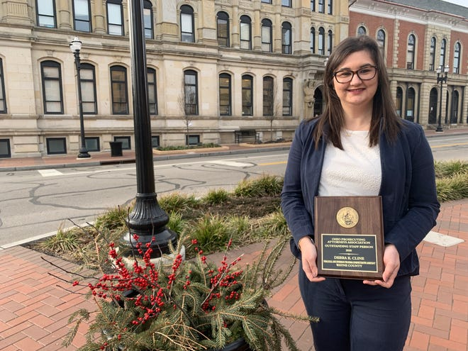 Debra Cline was the 2020 recipient of the Ohio Prosecuting Attorneys Association's Outstanding Staff Person Award. Cline is a paralegal in the civil and juvenile divisions for the Wayne County Prosecutor's Office as well as the administrative assistant for the diversion program.