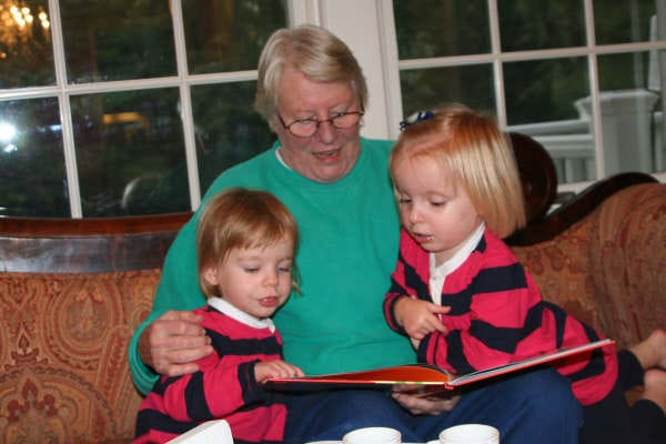 The Elizabeth L. Rothrock Scholarship for Excellence in English has been established in memory of Elizabeth 'Betty' Rothrock, a former teacher and trustee at Westchester Country Day School by her son, Aubrey Rothrock. Elizabeth Rothrock is pictured in this photo with her grandchildren.