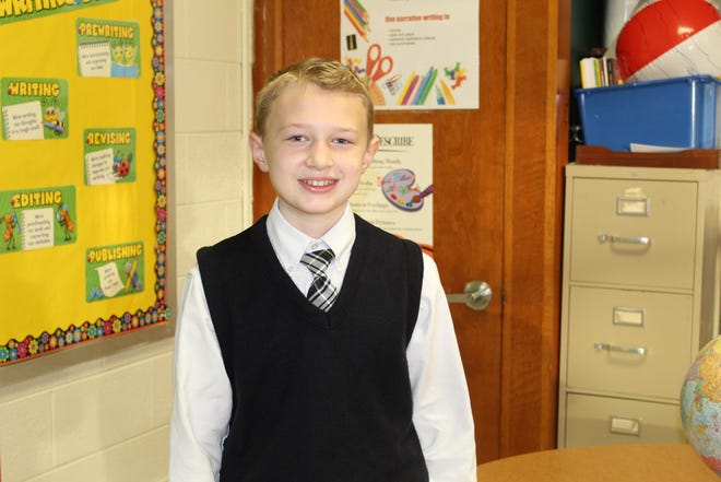 Brennan Macklin, a sixth grader at Holy Cross School, won the 2020-21 Veterans of Foreign Wars' Patriot's Pen youth essay contest for the state of Delaware.