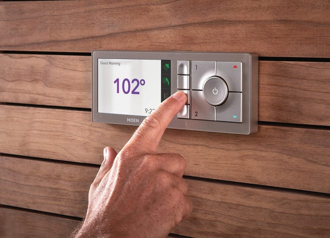 The U by Moen smart shower controller lets you control your shower by voice, phone and in-shower control panel.
