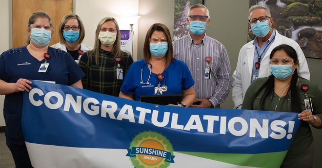 AdventHealth Nursing Leadership named Melissa Metcalf, CMA as its first recipient of the Sunshine Award for exceptional patient care collaboration.