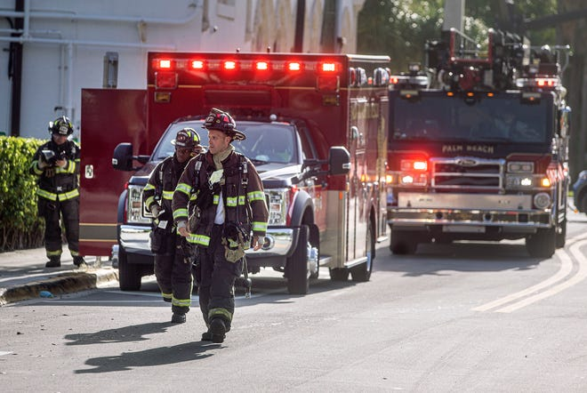 The Palm Beach Fire Department investigates a gas leak at Trevini Restaurant in September. The Town Council approved $201,460 for the purchase of new gear for the department.