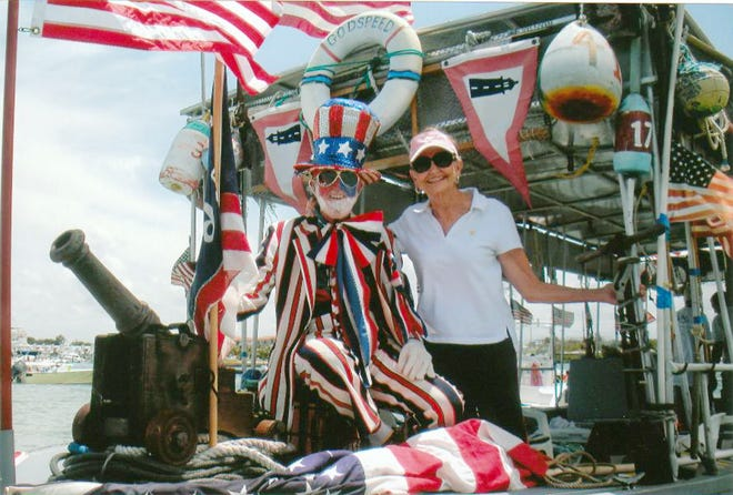 Jim and Molly Sparger celebrate the Fourth of July in 2011. Jupiter residents since 1962 and known throughout the town, they died within four months of each other in 2020.