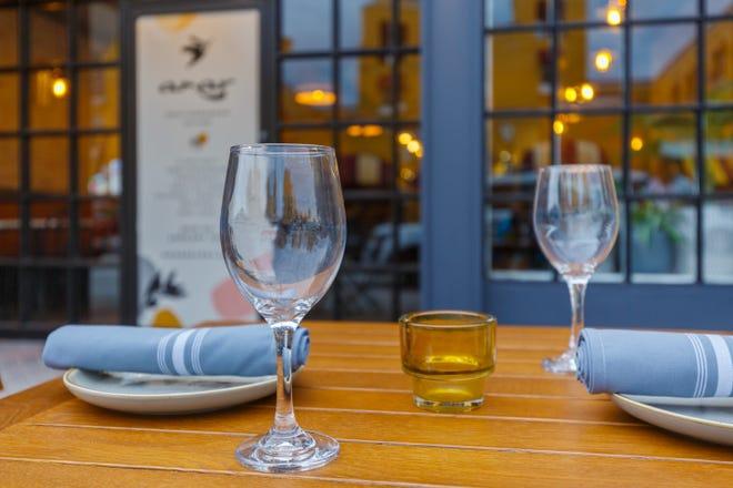 Amar Mediterranean Bistro offers outdoor and indoor dining on Atlantic Avenue in Delray Beach.
