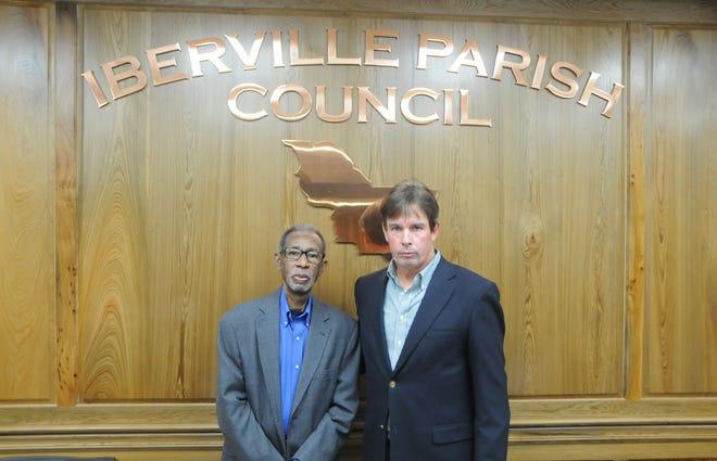 "Iberville Parish Council Vice Chairman Leonard ""Buck"" Jackson, Sr. and Council Chairman Matthew Jewell."
