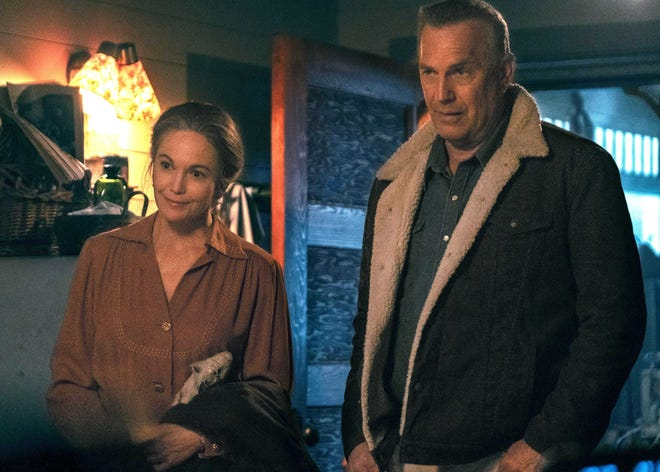 "Diane Lane and Kevin Costner star as Margaret and George Blackledge, a grieving couple in ""Let Him Go."""