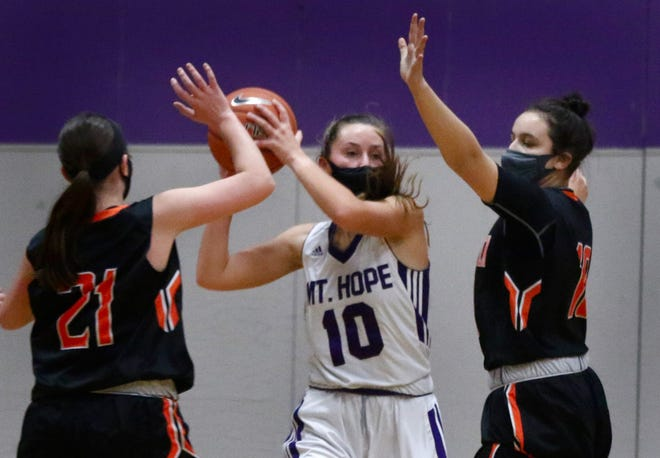 Reyn Ferris and the Mt. Hope girls basketball team host Hope in a Division III matchup Friday afternoon.
