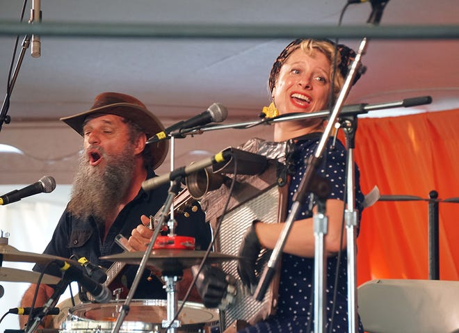 Hat Fitz & Cara perform on the Roots Stage at the Rhythm & Roots festival in Charlestown in August 2019.