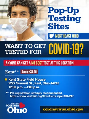 COVID testing is planned in Kent on Thursday and Friday.