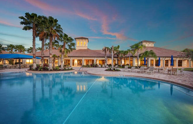 A pool and a clubhouse are among the amenities for residents of Cypress Falls at the Woodlands, in North Port.