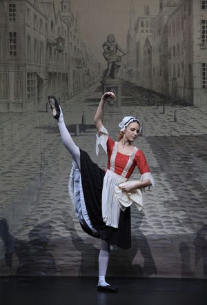 """Christine Windsor, who joined The Sarasota Ballet in 2007, has announced her retirement after more than 13 seasons. She is seen dancing in """"The Rake's Progress."""""""