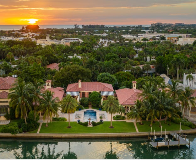 The Casa del Carnevale estate on St. Armands Circle was among those sold by Premier Sotheby's International Realty in 2020. The property was sold for $11 million, according to the firm.