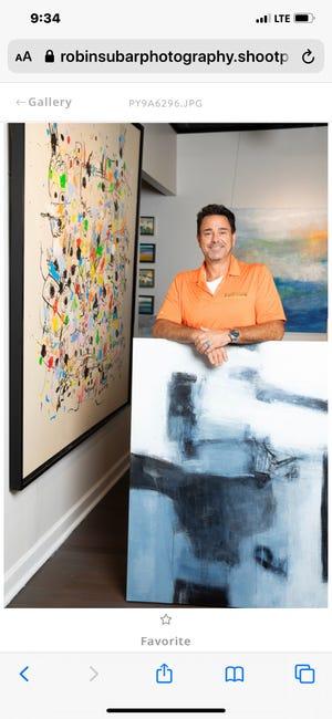 Artist David Manola owns the new Boulevard Fine Art & Custom Framing South.