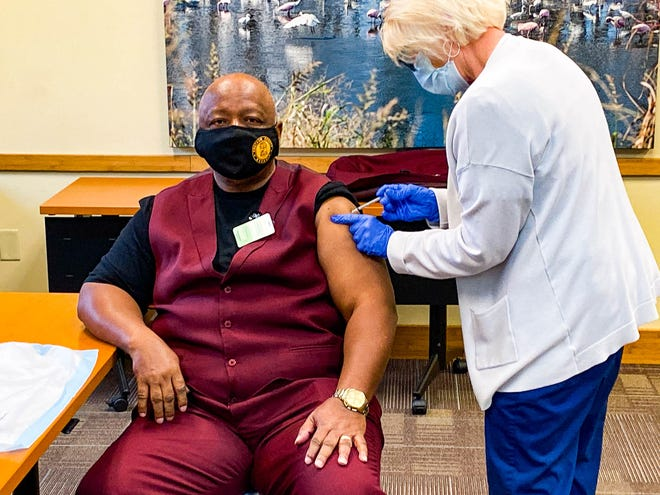 Chatham County Chairman Chester Ellis received his first COVID-19 vaccine last week.