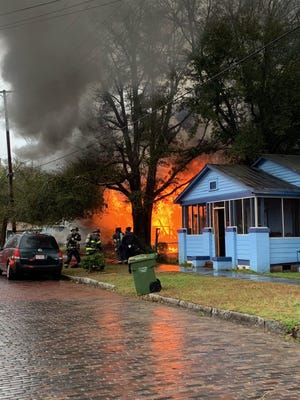 Emergency crews responded to structure fire on North Sixth Street Monday.
