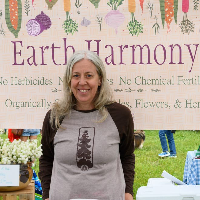 Susan Maddox, from Earth Harmony Produce in Ocean View, is one of two recipients of the Historic Lewes Farmers Market's Debra L. Schaefer Scholarship for Emerging Women Farmers.