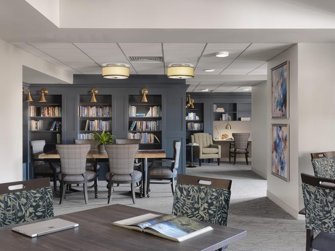 The remodeled library is are part of a $1.6 million renovation to Topeka Presbyterian Manor's  17-acre campus. [Submitted]
