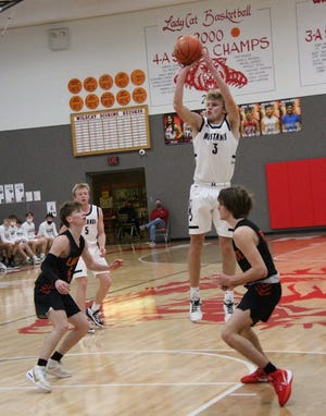 Dawson Zenger scored 22 points to help lead Rock Creek past Royal Valley in Tuesday's Class 3A boys state quarterfinal game. The Mustangs (22-2) will take on Galena (22-2) in Friday's state semifinals in Hutchinson.