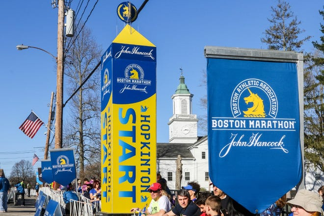 Hopes are high for Hopkinton as the start of a live Boston Marathon in October.