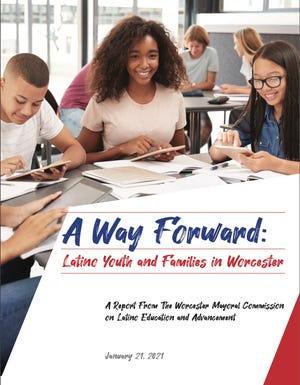"The cover of the report, ""A Way Forward: Latino Youth and Families in Worcester"""