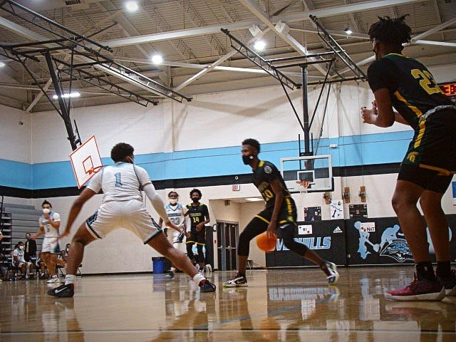Pine Forest sophomore Isaiah Washington (10) is Cumberland County's third-leading scorer, averaging 22.0 points.