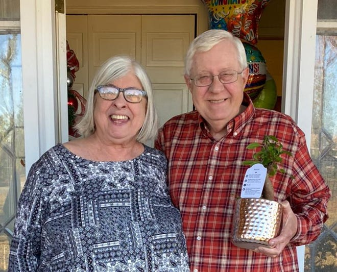 Beth and Ed Deluzain received this year's Teachers of a Lifetime award from Bay District Schools.