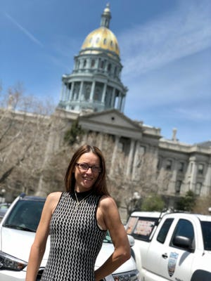 Jamie Kropp stands in front of the Colorado Capitol building. Courtesy photo