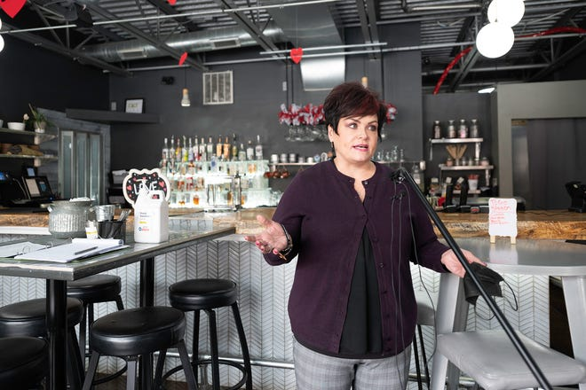 Jennifer Priest, owner of 1129 Spirits and Eatery on the Riverwalk, discussed the impact the Five Star Variance program will have on local businesses on Tuesday January 26, 2021.