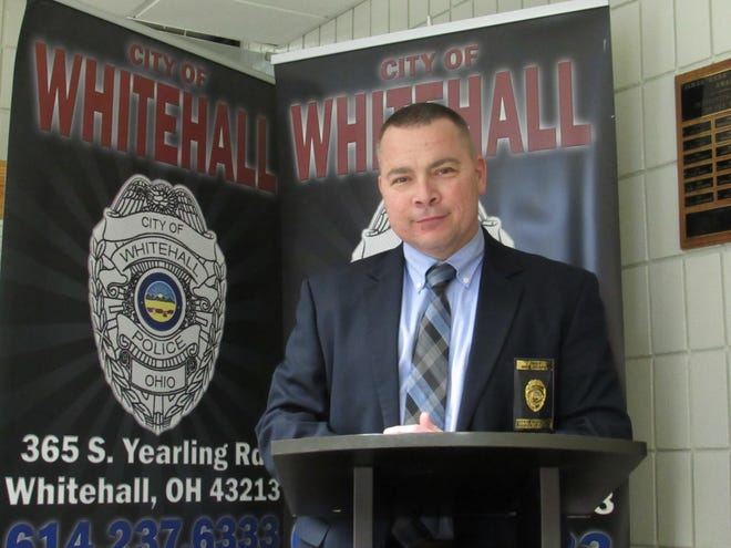 Whitehall Division of Police Chief Mike Crispen stands at police headquarters, 365 S. Yearling Road. Crispen recently described the division's second strategic initiative launched this year.