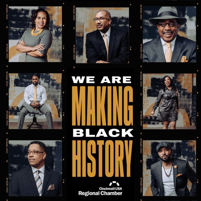 """The Cincinnati USA Regional Chamber is honoring seven African Americans from different segments of the community during Black History Month. These are the seven """"Making Black History'' honorees."""