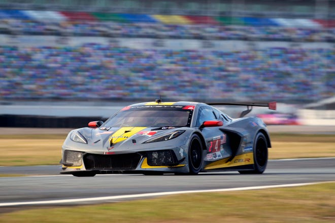 The #4 Mobil 1/SiriusXM Chevrolet Corvette C8.R driven by Tommy Milner, Nick Tandy and Alexander Sims finished first at the Roar Before the 24 Motul 100. The Motul 100 sets the grid for the Rolex 24 at Daytona January 30.