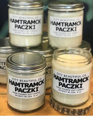 City Beautiful.Co's Hamtramck Paczki candles are hand poured in Detroit.