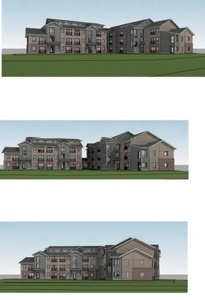 Renderings of the proposed Haven Apartments at 730 W. Prospect Road, a stone's throw from CSU's Canvas Stadium.