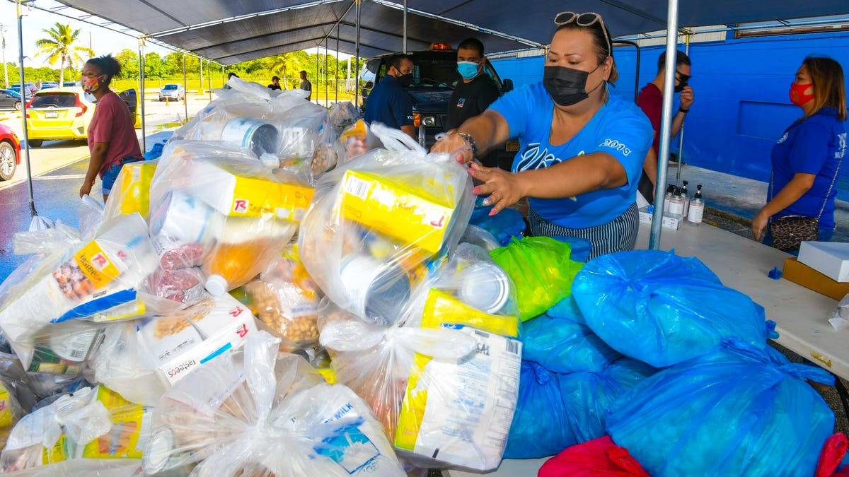 Meals commodities issued to Mangilao and Yigo residents