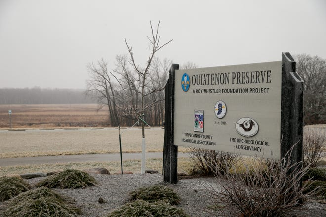 The Ouiatenon Preserve, which is located just west of Fort Ouiatenon Historical Park, is the original site of the 1700's fort, Tuesday, Jan. 26, 2021 in West Lafayette.