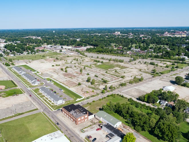The site of the former Chevy GM Plant at 1200 W. Eighth Street. The city of Muncie has agreed to purchase the site, with the intent of developing a solar farm there