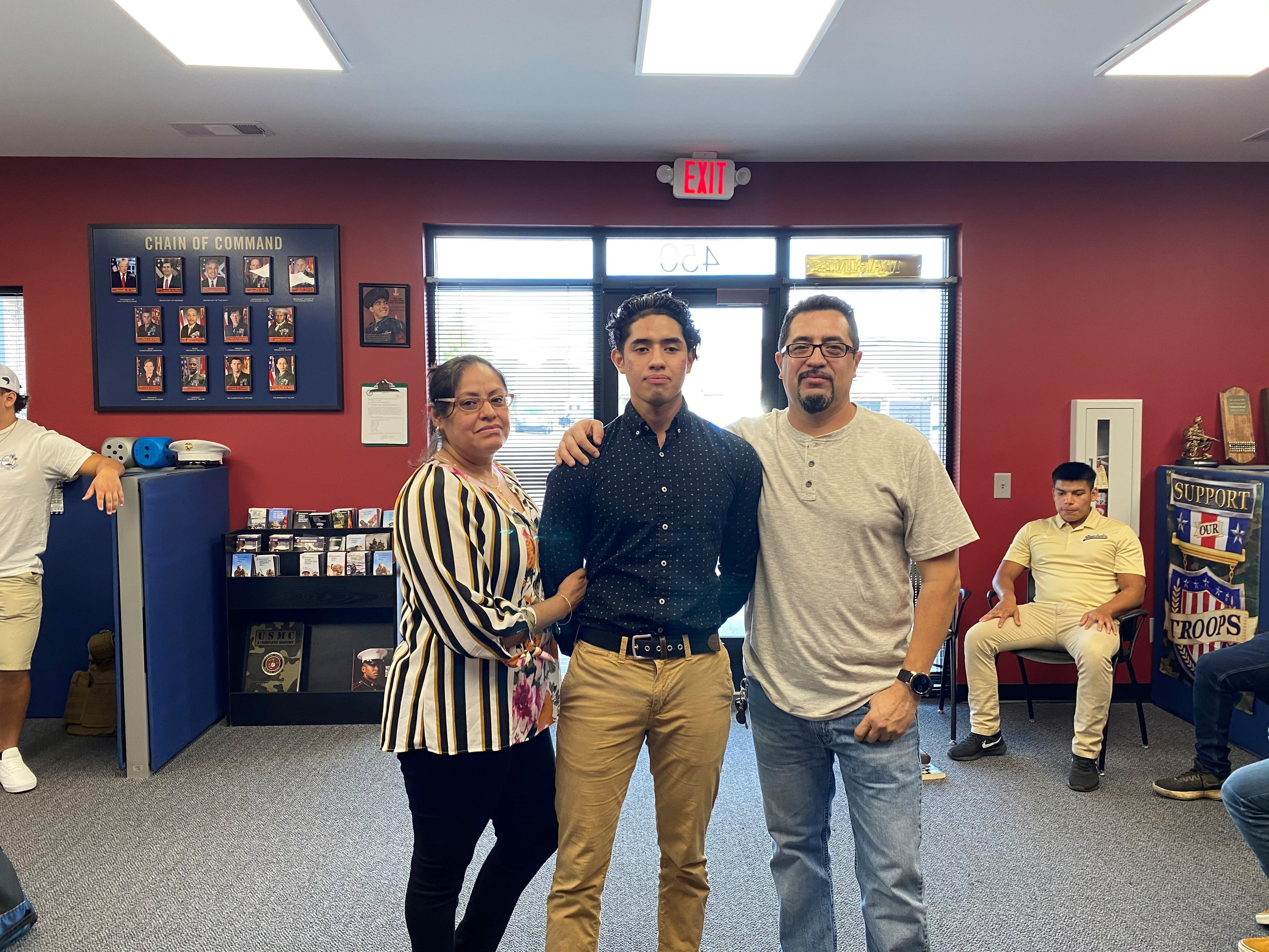 The last family photo taken of Antonio Garcia, at right, his son Anthony Garcia and his wife, Margarita Torres Sanchez