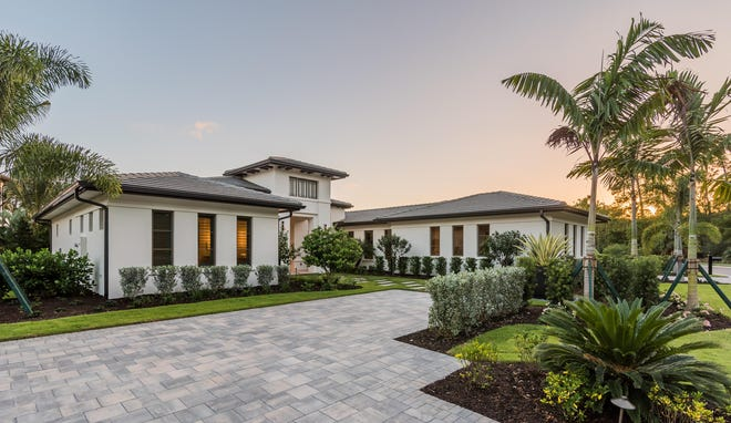 London Bay Homes' Carmela model home design can be recreated on choice of nearly 40 homesites in Mediterra's Caminetto neighborhood.