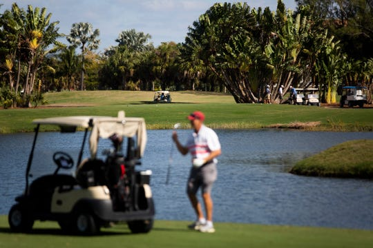 Golfers take to the course at the Naples Beach Hotel & Golf Club on Tuesday, January 26, 2021.