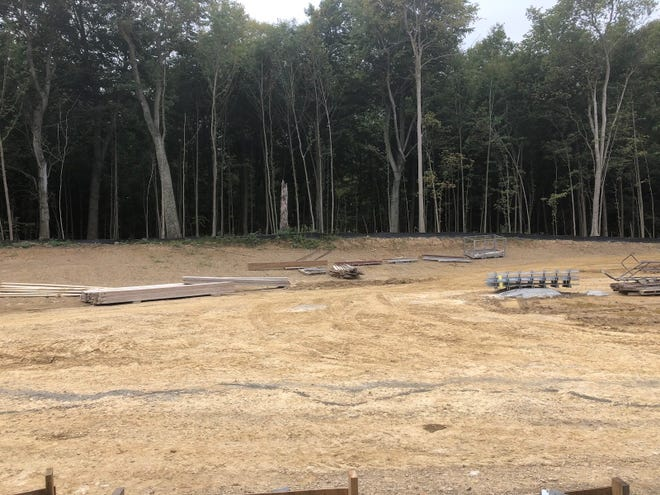 This space for an outdoor amphitheater is located behind Northridge's new elementary school being constructed near the high school and middle school.