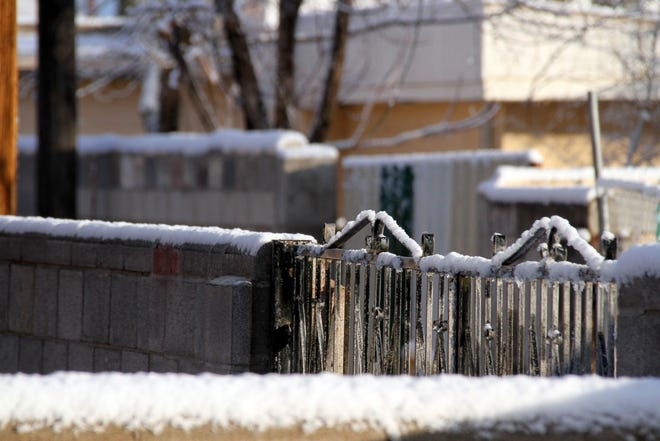 Luna County received a blanket of snow Monday evening.