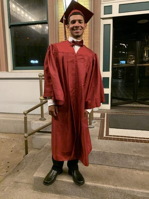 Gustavo Pineda-Mendoza at the Pensacola Grand Hotel for his 2020 graduation from Tate High School.