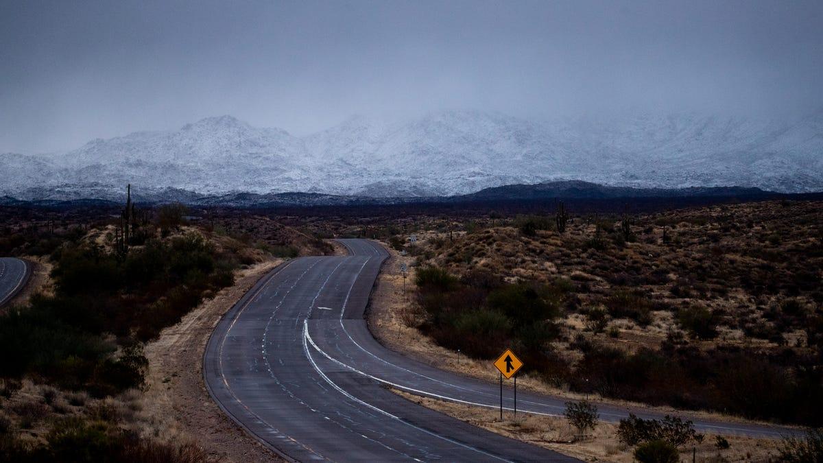 January winter storms bring rain, snow to Arizona