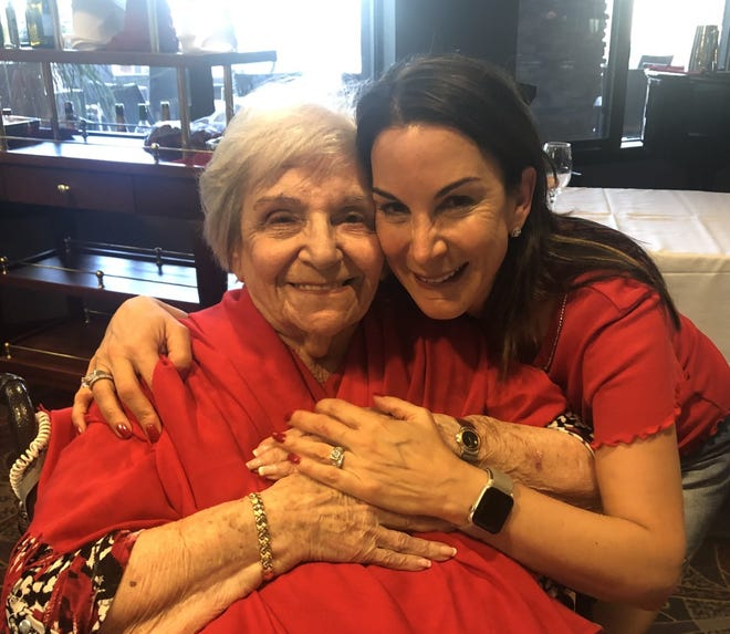 "Jodi Amendola enjoys special Valentine's Day celebration pre-pandemic February 2020 with her mother Thelma Kurzweil, who regularly  counseled Amendola ""to laugh at least three times a day."""