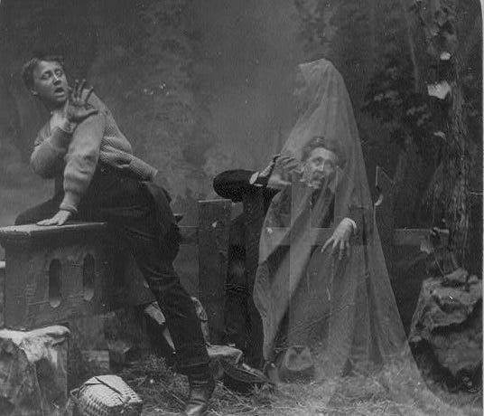 This female ghost image from the 1890s is representative of part of today's story.